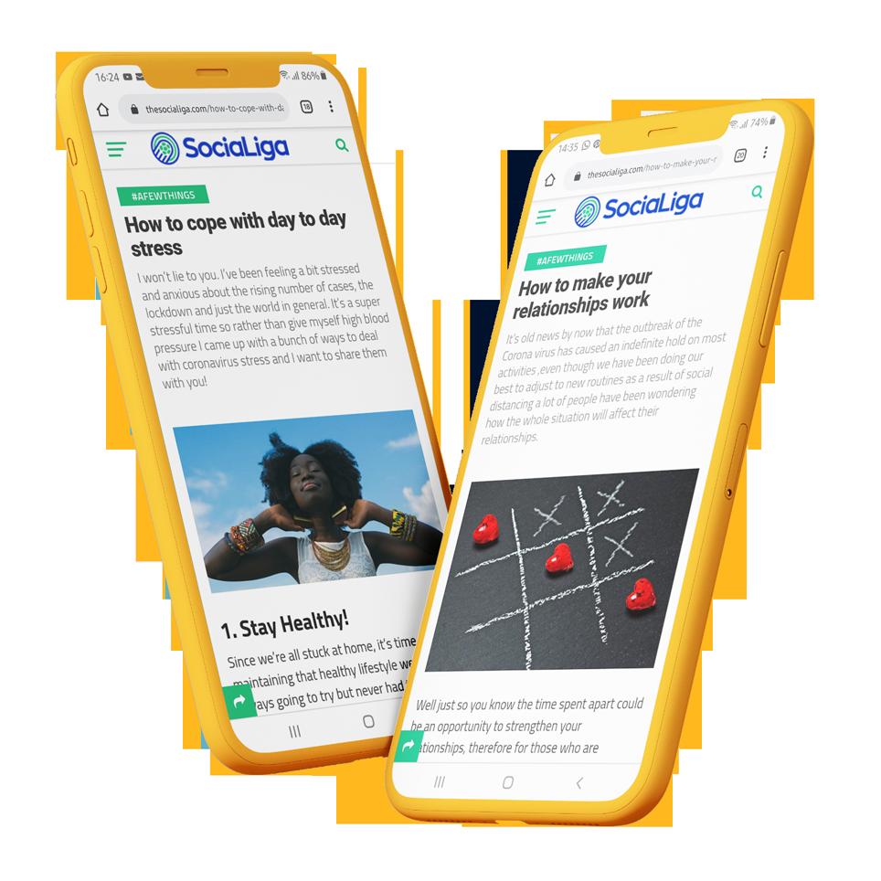 Website Design, Development & Management Service for The SociaLiga