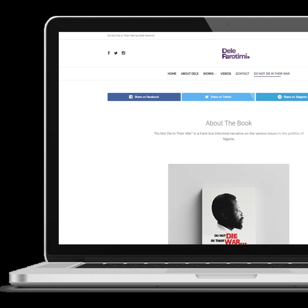 RedBoxx Website Development Service For DeleFarotimi.com